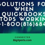 QuickBooks Has Stops Working | 18008166849 | QuickBooks Is Not Responding